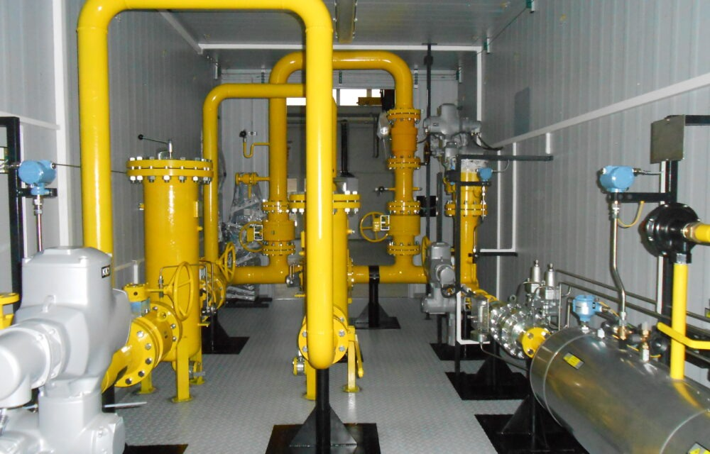 """Complete delivery of the """"container gas regulation station"""" to Ghana 